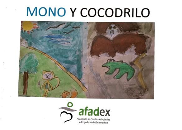 Mono y Cocodrilo